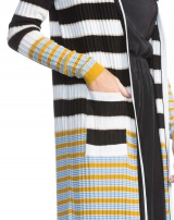 CARDIGAN LONGO LISTRADO P&B COLORFULL STRIPES
