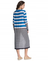 CARDIGAN LONGO LISTRADO BLUE COLORFULL STRIPES