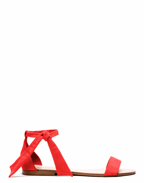 Amaro Feminino Rasteira Nudist Laço, Vermelho