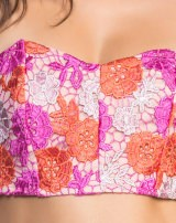 TOP CROPPED FLOWER PINK