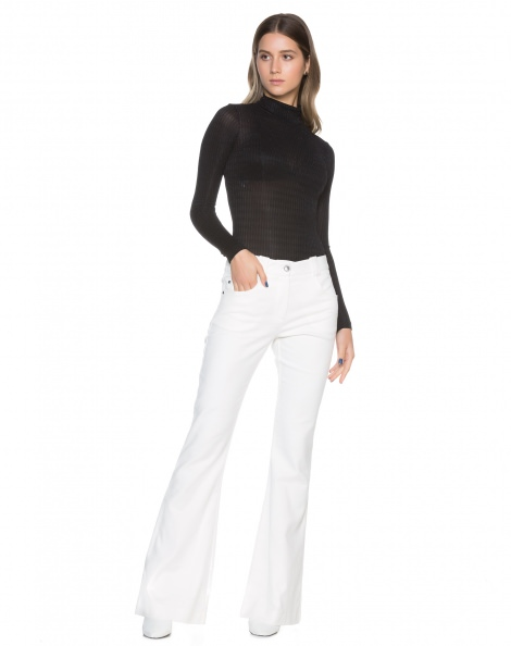CALÇA FLARE POCKETS COTTON