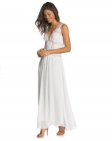 VESTIDO CHIFFON LACE OFF-WHITE
