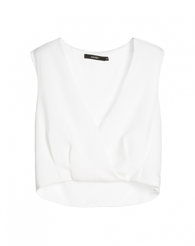 BLUSA CROPPED MAXIME OFF-WHITE