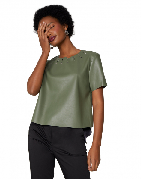Amaro Feminino T-Shirt Leather Special, Verde