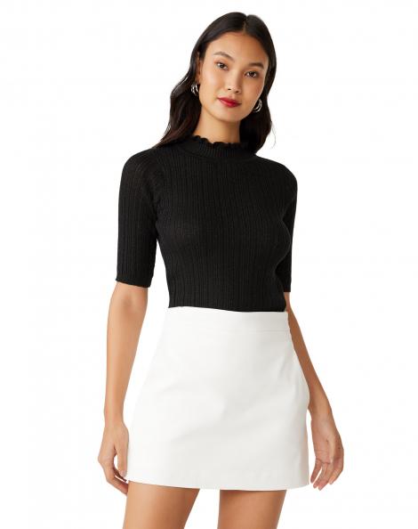 Amaro Feminino Shorts Saia Simplicity Essential, Branco