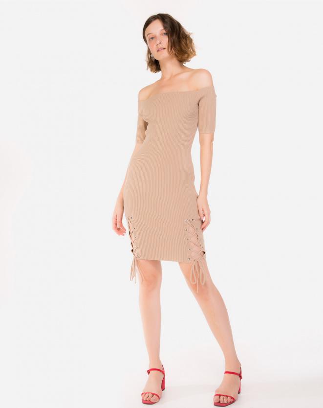 Vestido Nude Ombro a Ombro
