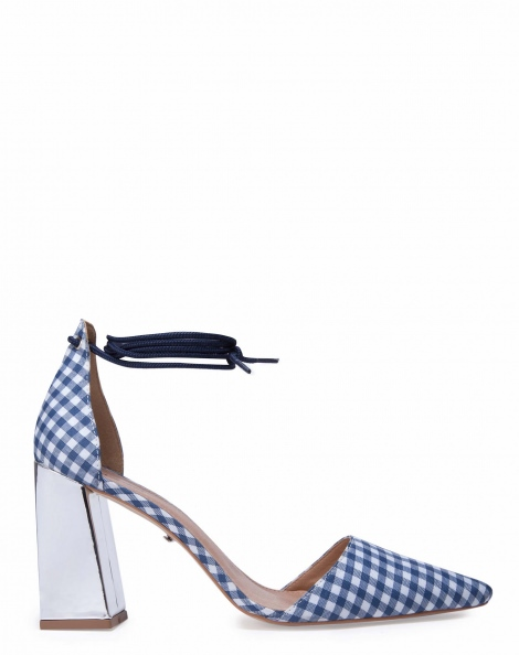 Amaro Feminino Scarpin Salto Grosso D'orsay, Azul