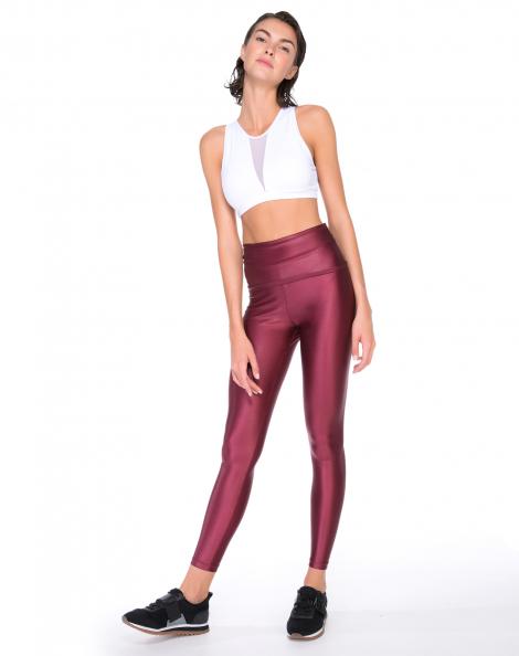 Amaro Feminino Legging Cirré Cintura Alta Color, Vermelho