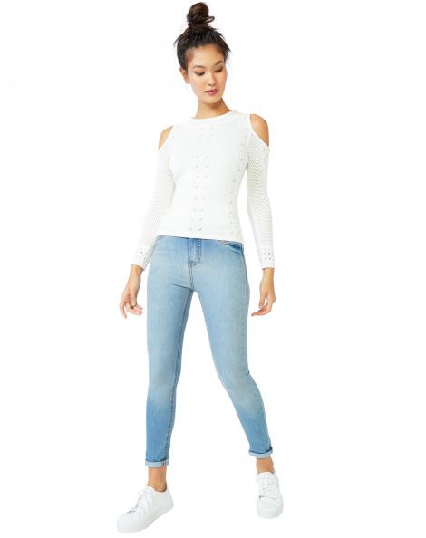 Amaro Feminino Calça Jeans Skinny Essential, Azul