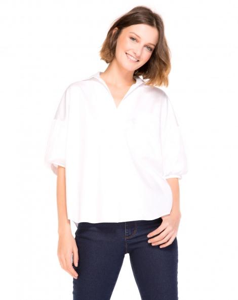 Amaro Feminino Camisa Algodão Classic, Branco