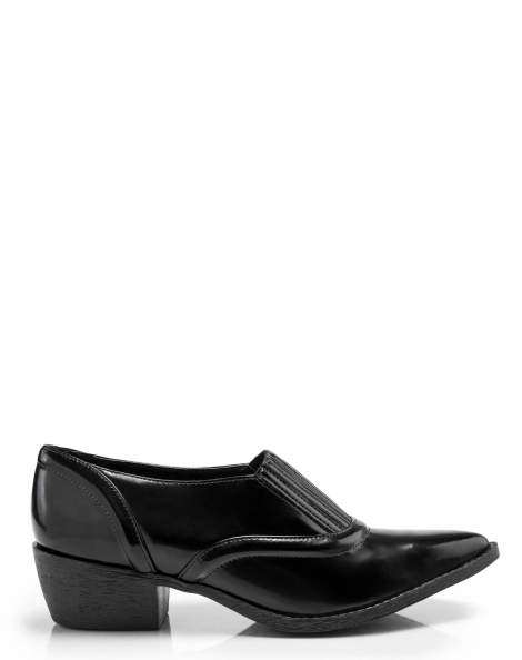 Amaro Feminino Ankle Boot Com Elástico, Preto